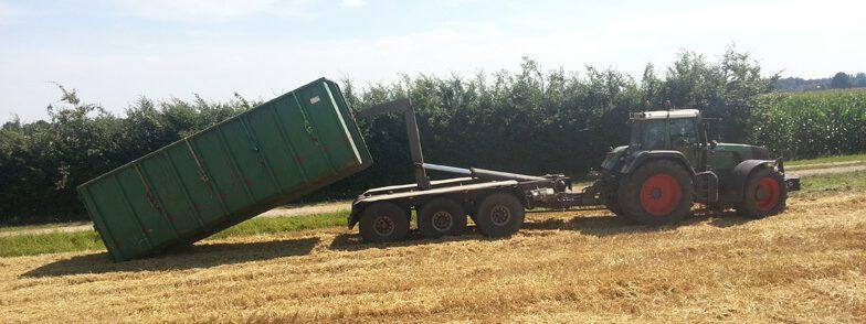Graanoogst graantransport